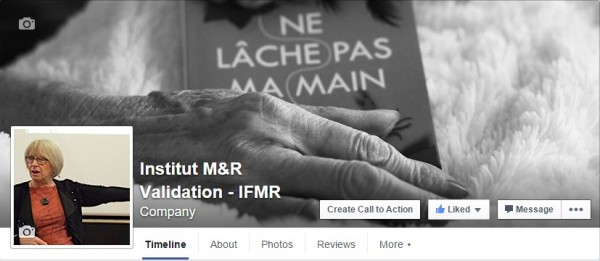 Page Facebook de l'Institut M&R