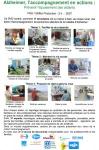 DVD Alzheimer, l'accompagnement en action (dos)